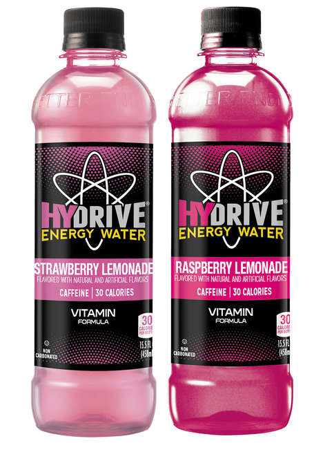 Energizing Fruit Lemonade - Hydrive Energy Water's Pink Lemonade Provides a Small Shot of Caffeine