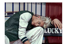 Rebellious High School Editorials - Lucky Blue Smith Stars in this Sporty Shoot for F****** Young!