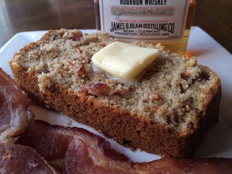 Bacon Banana Bread - The Meaty Banana Bread Recipe in the Eat Like Shit Cookbook is Boozy and Nutty