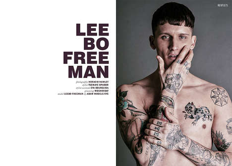 Inked Rebel Photography - Reflex Home's Latest Issue Features Top Model Leebo Freeman