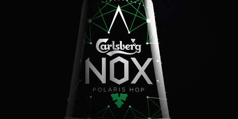 Nighttime-Inspired Beer Designs - The Carlsberg NOX Packaging is Dark and Mysterious