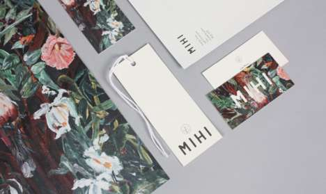 Artistic Clothing Tags - MiHi's Branding Concept Draws Inspiration From Painted Masterpieces