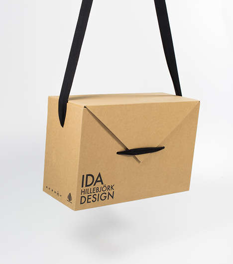 Shoe Packaging Purses - Sara Palen's Ida Hillebjork Shoe Packaging Box Doubles as a Bag