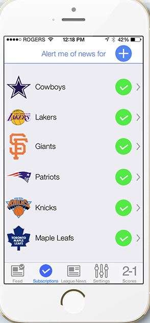Customizable Sports News Apps - This Breaking Sports News App Leverages Social Media News Feeds