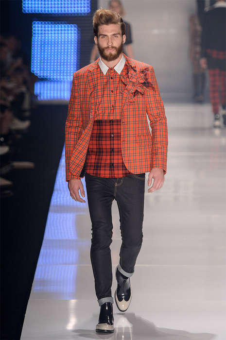 Refined Rock Runways - Colcci's Latest Collections Boasts Iconic Motorcycle Jackets and Plaid Suits