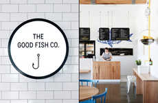 Modern Seafood Restaurants - This Fish and Chip Shop Boasts a Pristine Visual Branding Identity