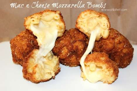 Fried Cheese Bombs - This Mac and Cheese Ball Recipe Creates an Explosion of Melted Mozzarella
