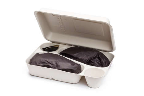 Reusable Shoe Packaging - The Cross Shoe Packaging is Designed to Hold Beer and Fries