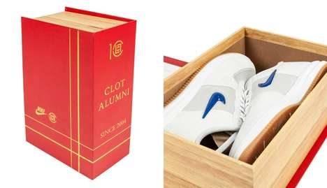 Academic Shoe Packaging - The CLOT x Lunar Force 1 Nike Shoe Packaging Resembles a Yearbook