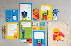 Charitable Children's Branding - BVE KIDS' Branded Characters Adorn Art, Packaging and Brochures