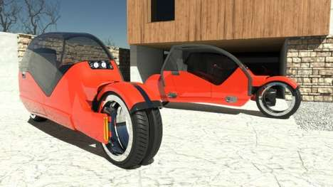 Splitting Concept Cars - The Lane Splitter Car Splits Into Two Motorbikes
