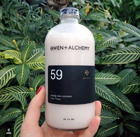 Occult-Inspired Juice Branding - This Juice Apothecary Boasts a Chic Understated Visual Brand