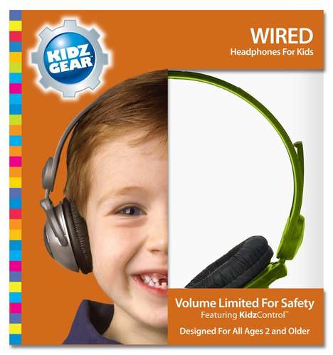 Playful Kids Headphones - Parents Can Tune Out Noise or Entertain Children with This Technology