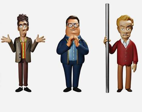 Iconic Sitcom Action Figures - These Seinfeld Action Figures Perfectly Capture Kramer and Newman