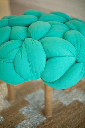 Braided Fabric Stools - Latifa Saeed's Braided Chair Boasts an Artistic and Practical Design