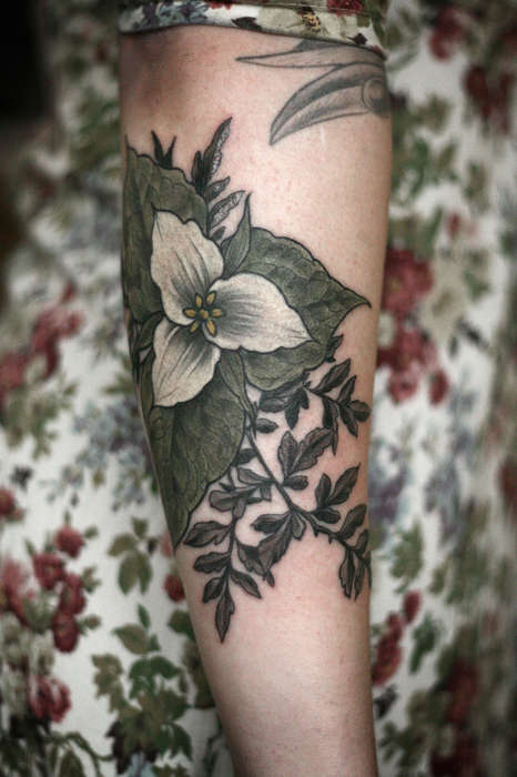 Exquisite Floral Tattoos - Alice Carrier Creates Intricate Botanical Body Ink for Her Clients