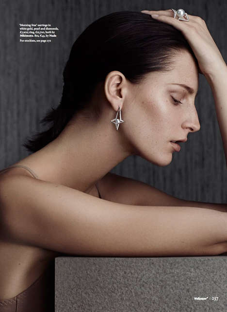 Demure Accessory Editorials - Wallpaper Magazine's Light Theory Image Series Boasts Diamond Jewelry