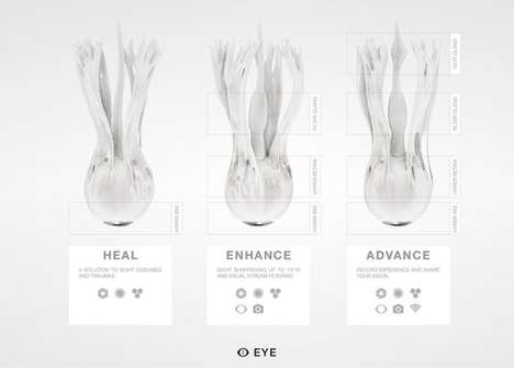 Bioprinted Synthetic Eyeballs - The EYE Concept Envisions Synthetic Eyes Replacing Existing Eyeballs