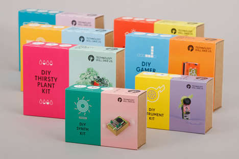 Two-Toned Toy Packages - Technology Will Save Us & Oliver Helfrich Designed the Educational Toy Kits