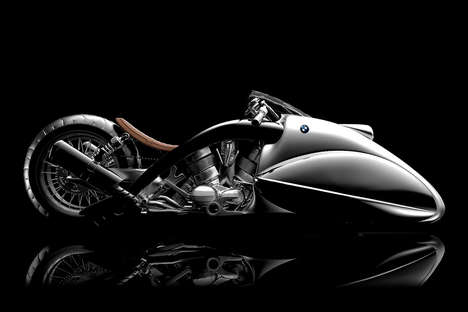 Sloping Motorcycle Concepts - The BMW Apollo by Mehmet Doruk Erdem is Made to Set Speed Records