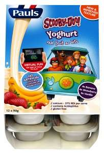 Interactive Yogurt Packaging - The Scooby-Doo Yogurt for Kids Features Augmented Reality Packaging
