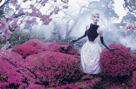 Blossoming Spring Fashion - Mojeh's Latest Issue Features a Garden Fashion Feature