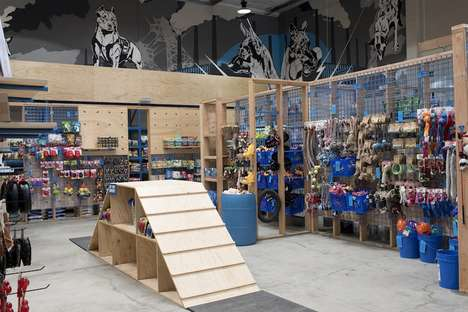 Interactive Pet Shops - The BlueCollar Working Dog Store Has Space for Products and Play