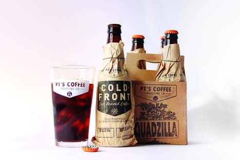Retro Cold Brew Bottles - This Cold Brew Packaging Design is Rustic and Down-to-Earth