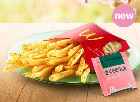 Sakura French Fries - McDonald's Cherry Blossom-Seasoned French Fries Mimic the Taste of Spring