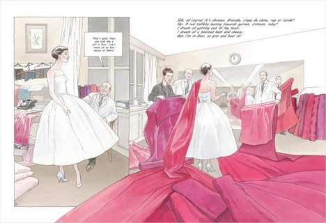 Couture Comic Books - Annie Goetzinger's Girl in Dior Celebrates the Luxury Brand's History