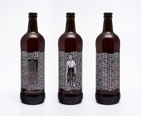 Eclectic Craft Brew Bottles - This Craft Brewery Packaging Reflects the Brand's Unique Roots