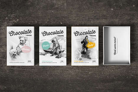 Feminist Candy Packaging - This Fruene Chocolate Box Branding Highlights Inspiring Women in History