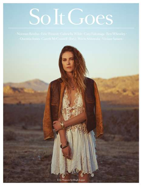 Road Trip Editorials - The Latest So It Goes Magazine Editorial Embraces Raw Boho with Erin Wasson
