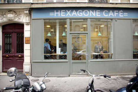 Tiny Geometrical Cafes - This New Coffee Shop in Paris is an Expansion of the City's Java Scene