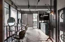 Industrial Salon Interiors - This Hair Salon in Taiwan Boasts the Appearance of an Art Gallery