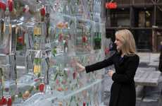 Icy Produce Installations - Dr. Oetker's Pizza Promotion Shows Its Fresh Ingredients, Frozen