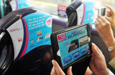 Augmented Reality Commuter Screens - The Seat Back Entertainment on Glasgow Shuttle Buses is Hi-Tech