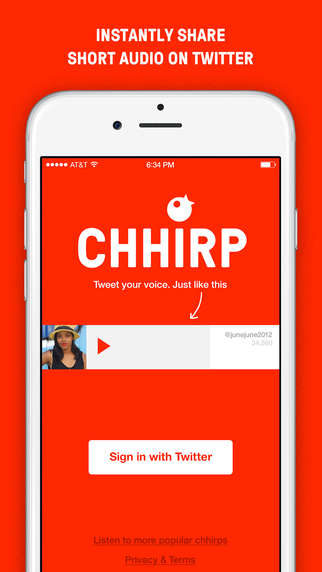 Sound Broadcasting Apps - Chhirp Lets You Share Short Audio Recordings on Twitter