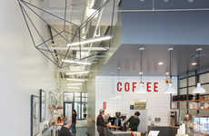 Revamped Coffee Shops - Modern Coffee Receives an Design Overhaul Courtesy of Arcsine Architecture