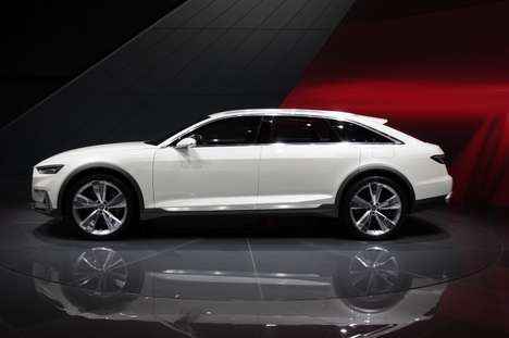 All-Terrain Crossover Cars - The Audi Prologue is a Hyper-Powered Sport Crossover Concept