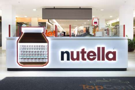 Branded Confectionery Kiosks - This Delicious Nutella Pop-Up in Brazil is the First of Its Kind
