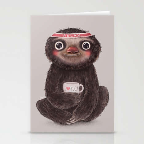 Contented Sloth Cards - This Funny Mother's Day Card Encourages Moms to Relax