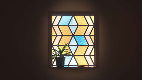 Solar Stained Glass - Current Window is a Sustainable Stained Glass Project
