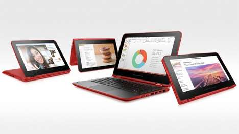 Yoga-Inspired Laptops - The HP Pavilion x360 Has a 360-Degree Hinge For Tablet Functionality