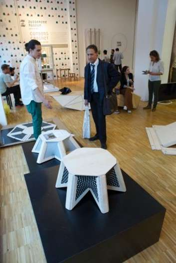 Durable Flatpack Tables - The Flatpack Programmable Table Can Be Easily Pulled Into Shape