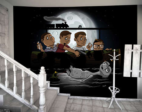 Geeky Parody Art Murals - These Massive Removable Art Posters are Perfect for a Nerdy Aesthetic