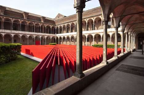 Linear Courtyard Sculptures - The Daniel Libeskind Installation 'Future Flowers' Was Made for Oikos
