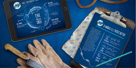 Sustainable Seafood Rebrands - This New Brand Identity for Blue Circle Foods is Educational