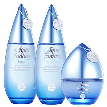 Dewy Skincare Bottles - Holika Holika's Aqua Fantasy Packaging Shows Off Its Icelandic Roots