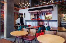 Food Truck-inspired Restaurants - The Truck De-luxe Restaurant Features a Truck-Inspired Counter